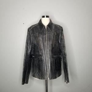 Harley Davidson Distressed Motorcycle Jacket 1W 1X